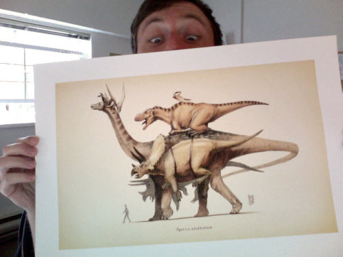 These Dinosaurs-Riding-Other-Dinosaurs prints will also be there at VanCAF! SCIENTIFIC!