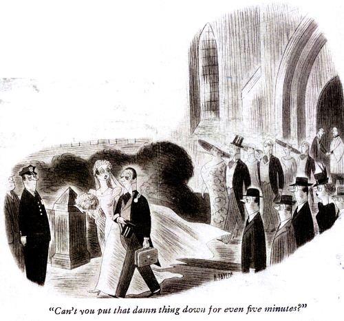 The more things change…. From the New Yorker archives - a 1939 cartoon by the wonderful and little-remembered cartoonist R. Taylor