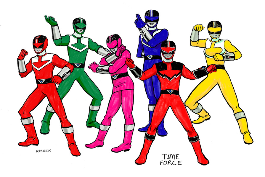 POWER RANGERS TIME FORCE What can I not say in praise of Time Force?? First of all, time travel is awesome. The team was from the future, sent back in time to defeat an evil force before it could become too strong! Their Red Ranger was killed (later revealed to be alive, of course), and so they had to find his ancestor in the past to bond with the DNA morpher. Too bad the guy, Wes, turned out to be an arrogant man-child! But he stepped up to become a hero. Jen, the Pink Ranger, was the leader (even though Red was leader in battle, as per tradition). She was the most experienced of the team, had a tragic backstory (The original Red Ranger was her BF) and would kickbox on random trees in the park when she was mad. One time when she disagreed with Wes, she straight up punched him in the face. Then she apologized later by baking him cookies because she is adorable. The Yellow Ranger, Katie, was a beast and super-strong!! So bad-ass! I'm sorry I haven't kept up the pace with these, but I have four new teams coming and I've officially hit the halfway point! Thanks for sticking with me guys.