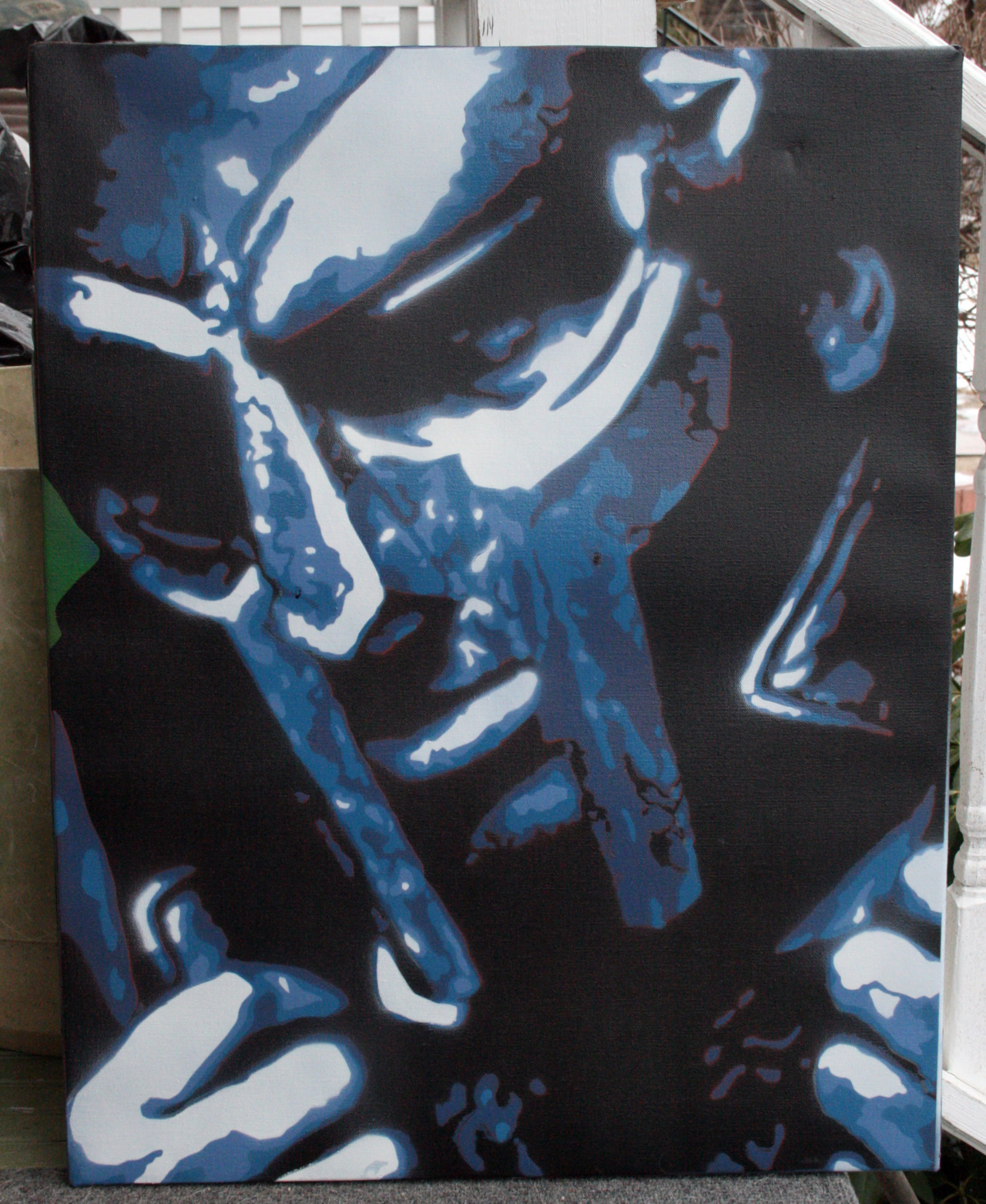 MF DOOM22x28 Spraypaint on Canvasvia 2009 facebook.com/derekzielinskiartist
