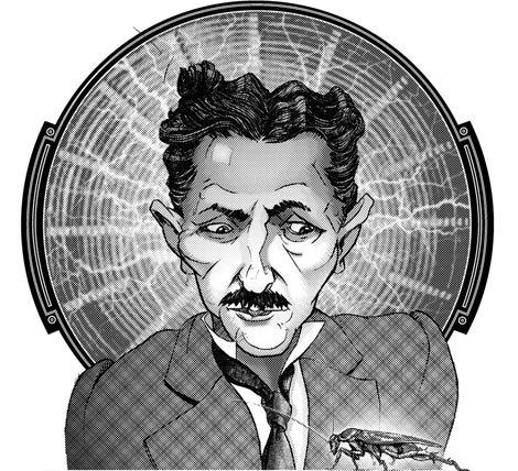 restlesstesla:  Spoiler Alert Top 5 Mad Scientists of all time #1 Tesla Although this real-life scientist died before the transistor was invented, Tesla used his formidable mind as we use computers today, designing and testing inventions using only his imagination. Tesla's intelligence was sharpened by intense powers of concentration, which both blessed and tortured him. Tesla appears to have suffered from symptoms of obsessive-compulsive disorder. His obsessions included phobias of dirt and germs, and of the number three. Tesla's compulsions included doing everything in sets of three. He worked in solitude, as interacting with ordinary humans was difficult. Perhaps this explains why, in his later years, Tesla claimed to have contacted beings from the planet Venus. + Diagnosis +Axis I: Obsessive-compulsive disorder; psychotic disorder not otherwise specified (alien hallucinations)Axis II: No diagnosisAxis III: No diagnosisAxis IV: Social isolationAxis V: GAF = 60 Moderate symptoms: conflicts with co-workers; impairment in reality testing Read more: Top 5 Mad Scientists of All Time Diagnosed on a Sci-Fi Couch - Popular Mechanics