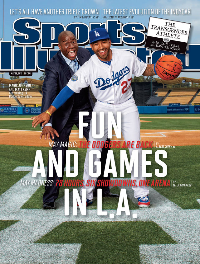 SIGH siphotos:  This week's SI cover features Magic Johnson and Matt Kemp, owner and star player of the resurgent Dodgers. (Peter Read Miller/SI)