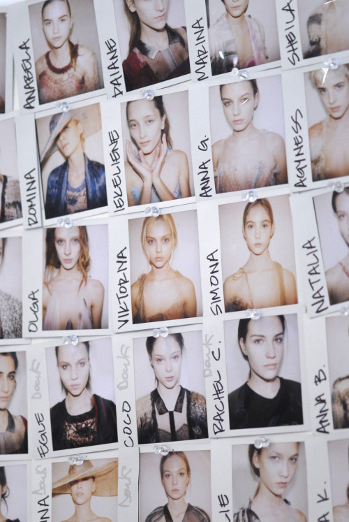 Model Polaroids Backstage at Rodarte Autumn/Winter 2008