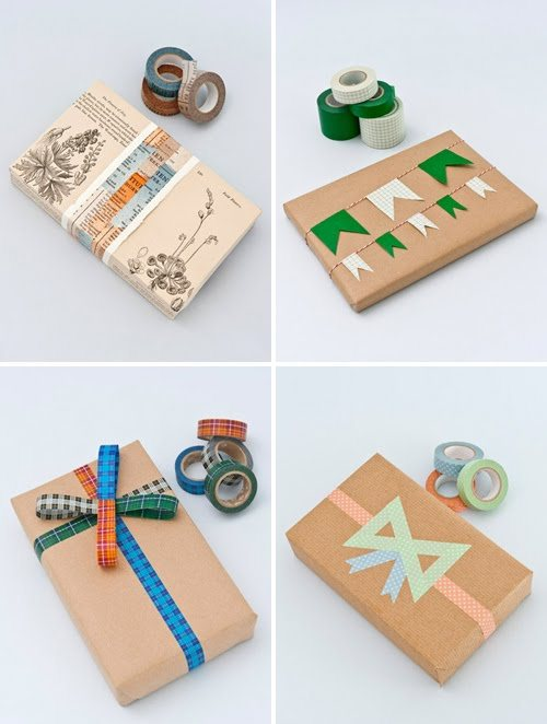 Stylish wrapping ideas using Washi Tape from Tea For Joy