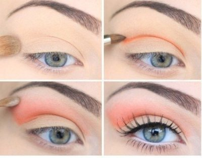 malibeautiful:  peach eyes