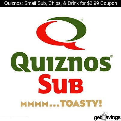 Quiznos: Small Sub, Chips, & Drink $2.99 Coupon  GET IT: http://gtsvngs.co/MHUKvW http://on.fb.me/JSABDm