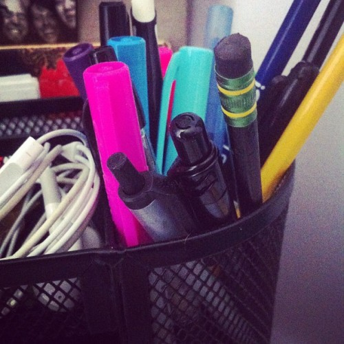Day 142: Can you guess which is my favorite pen? #mayphotoaday #photoaday #365 #day142 #2012 #pink (Taken with instagram)