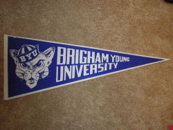 Everyone had this pennant hanging in their bedroom. Nostalgia.