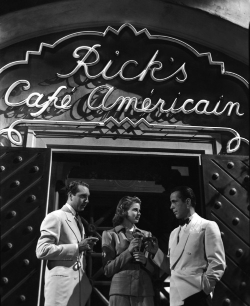 "amy-blue:  ""Here's looking at you, kid"" -Rick, Casablanca (1942) Michael Curtiz"