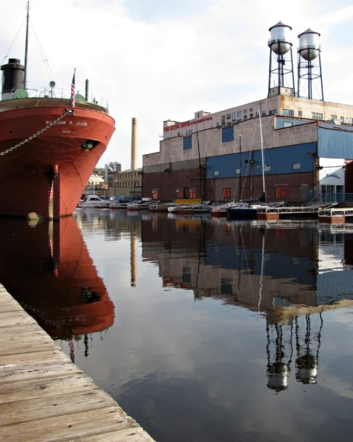 I love, old industrial Duluth and even Superior  Reflection by Mary Sullivan