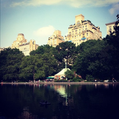 Jogging in Central Park, taking advantage of the neighborhood #cutcopy  (Taken with Instagram at Central Park - Run, Bike, Run)