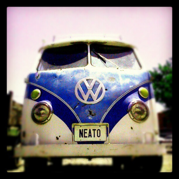 Neato VW Bus in downtown Albuquerque. #cars #VW #photography #blu3  (Taken with instagram)