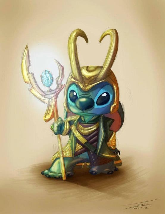 whatistumblrforeals:  Stitch as Loki