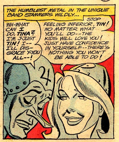 """I'm just Tin! I'll disgrace you all!"" Metal Men #8 (June-July 1964)"