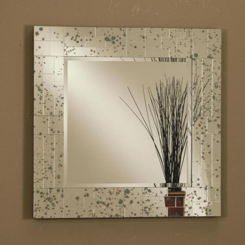 Modern and memorable, this wall mirror is sure to please. The square-shape piece consists of an antique finish and features a mosaic-designed frame, which provides a chaotic charm to the overall look. You're bound to be pleased with this square wall mirror in your home.  Add this piece to your room for only $219!