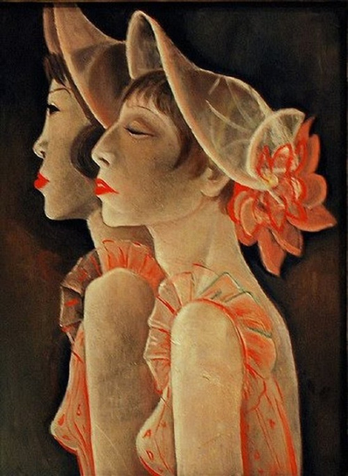 blueruins: RevueGirls (1928) by Jeanne Mammen (*Huismus)