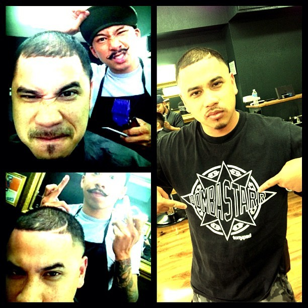 I was out here lookin real #HurtRussell & to get a #FreshCut by cuzzo @juliuscaesar #FCDC #HumpDay #steezharvey #BombaStar @tonypsd #teambackhand #firstdirt  (Taken with Instagram at Fresh Cuts)