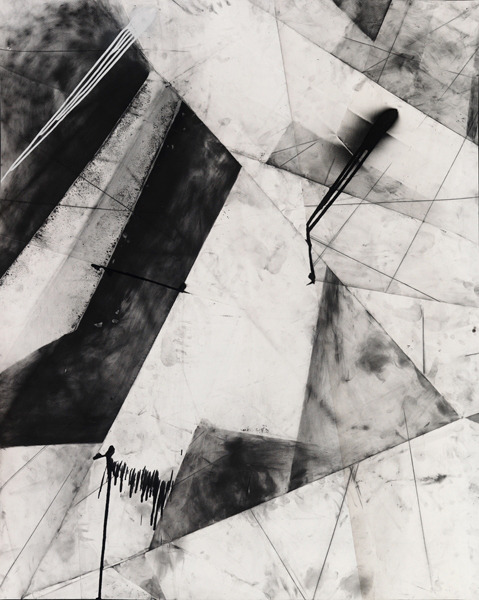 karl haendel abstract chicago #1, 2010 . graphite, enamel and charcoal on paper
