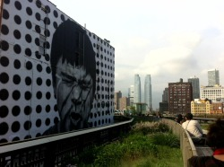 Brand New Giant JR Piece along the HiGHLINE