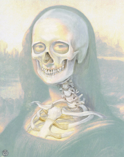 moshita:  Anatomy of a Smile, Mona's Bones, 2002(published in Draw Like Da Vinci, 2006)  Susan Dorothea White