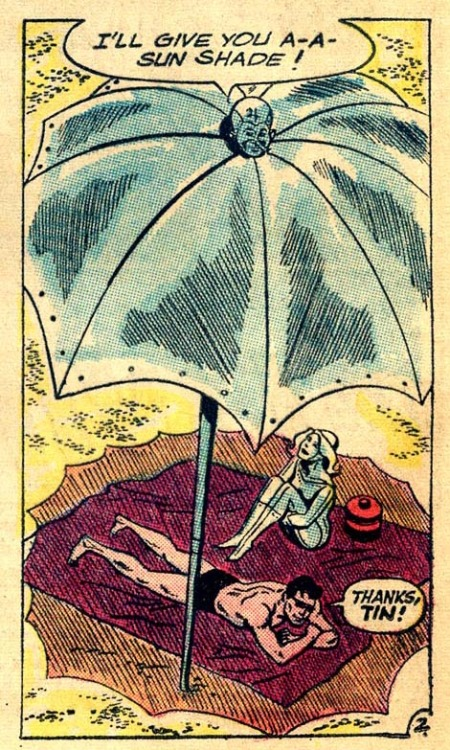 """I'll give you a sun shade!"" Metal Men #7 (April-May 1964)"