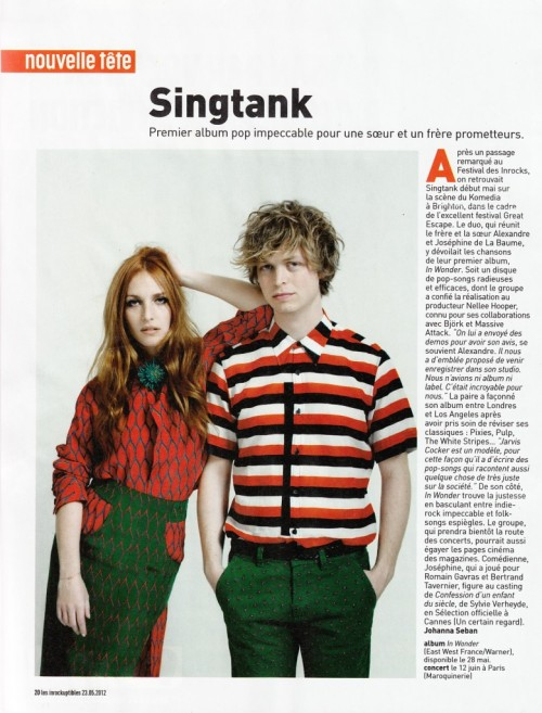 SINGTANK JOSEPHINE DE LA BAUME AND HIS BROTHER ALEXANDRE STYLED BY ME FOR THEIR NEW ALBUM, PHOT0 BY PIERRE EVEN