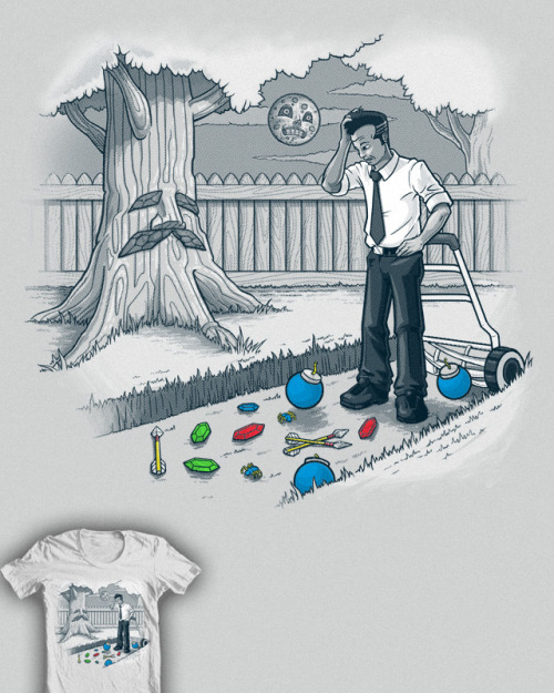 "superpunch2:  ""Cutting Grass"" by Colin Lepper up for vote at Threadless."