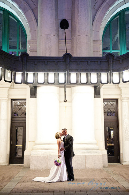 hipsterbride:  Our friends Kristie and Matt! (via Union Station Wedding Worcester, MA » Anna Briggs Photography)