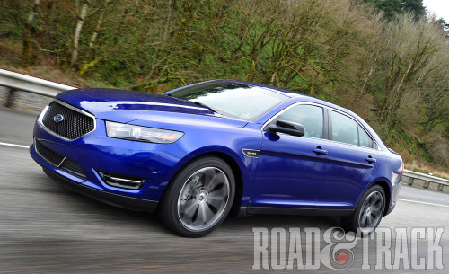 The 2013 Ford Taurus SHO is a genuinely civilized and comfortable luxury sedan that happens to be quite at home on the race track. (Source: Road & Track)