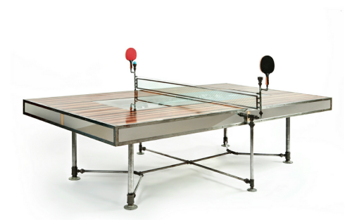 Coolest table tennis table ever?! From: Ping Pong Table That Took 400 Hours To BuildIn: Art & DesignOn: Origin of Cool