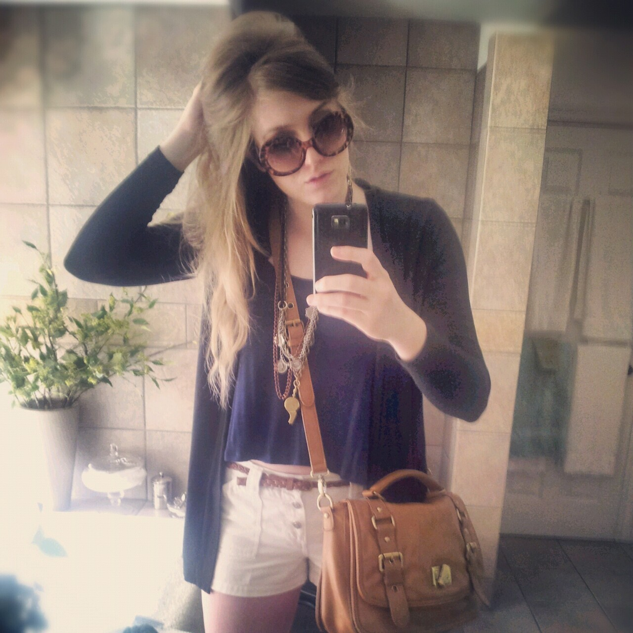 [Bag- Aldo, Sunnies- gift from Romwe.com, Whistle Necklace- gift from Madewell] The weather seems to have finally stopped dipping into cold weather territory (knock on wood) and stepped into warmer weather which means I may soon be able to ditch the sweater when I head out for the day. Time to switch around my closets to reflect this amazing weather and toss out any old items from the winter that I won't be keeping for the fall. Ps. Don't forget to follow me on instagram: theblondejournal! xx  BlogLovin'   :     Twitter    :    Instagram: TheBlondeJournal
