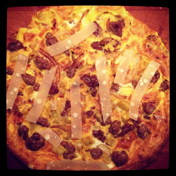 Paleo pizza (Taken with Instagram at Sunny Vale Trailer Park)