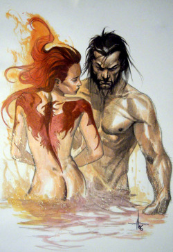 for-redheads:  Phoenix and Wolverine by Gabriele Dell'Otto