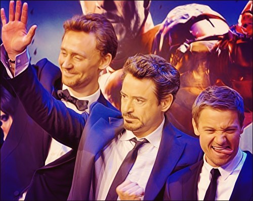 becks28nz:  Hiddleston, Downey Jr and Renner. (source)