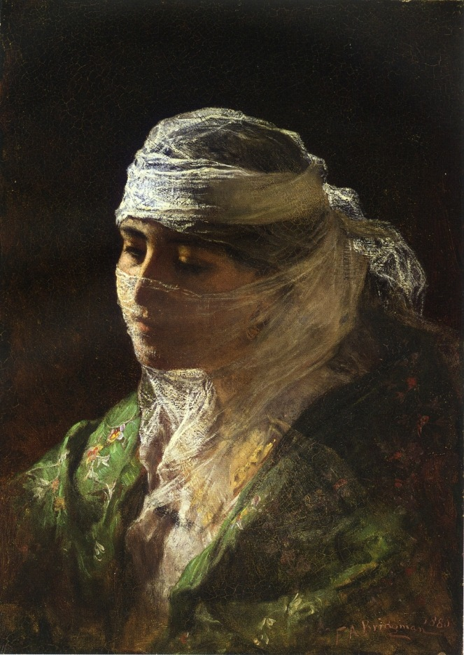 labellefilleart:  A Veiled Beauty of Constantinople, Frederick Arthur Bridgman