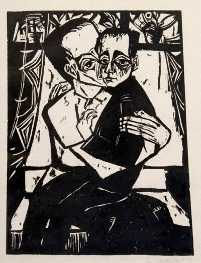 Geshwister (Siblings) by Erich Heckel (1913)