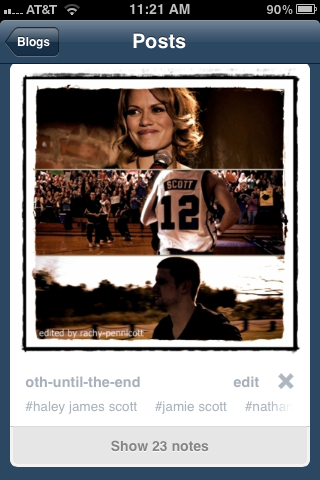 I love when I see something like this. Anything to do with Nathan Scott, and then 23 notes :) I love the number 23