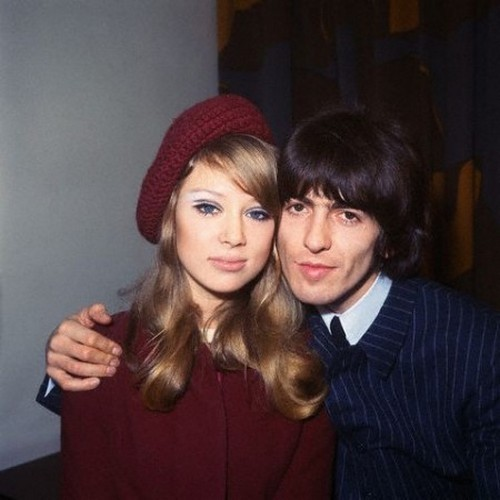theswingingsixties:  George and Pattie