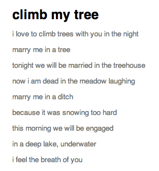 hehe a collaborative poem i did with James Ganas awhile ago  hehe thx liefplus hehe