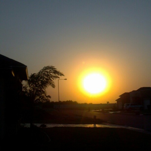 diss-obey:  #sunset #amazingview from where I'm at! ;D (Taken with instagram)