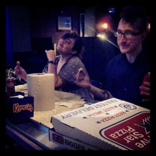 Dr.pepper Pizza Paarty!  (Taken with Instagram at the norm)