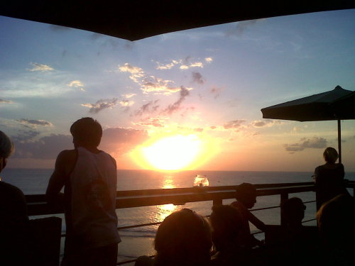 Sunset at Uluwatu Beach