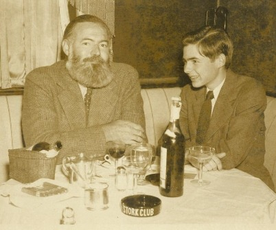 hockey-teeth:  Ernest Hemingway and his son Patrick.