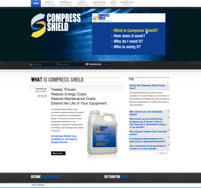 www.compressshield.com Typical product info site
