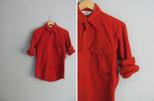 rust woodland button-up shirt at darling vintage