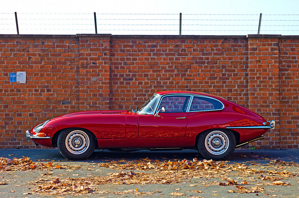 Jaguar E-type - Imprisoned Crimson Kitten