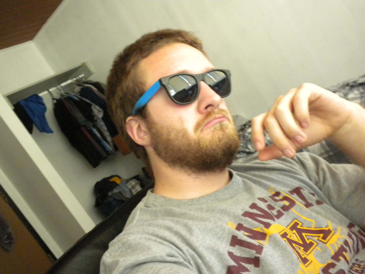 Me rocking the frat goggles.  Taken a couple days ago.