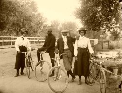 zuky:  classicalallure:  victorianedge:  Black people of the Victorian Era   Fixed gear bikes and vintage threads pre-post-cool enough to make hipsters weep.