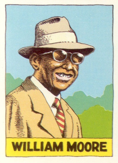 "William Moore""Heroes of the Blues Trading Cards"" by Robert Crumb"