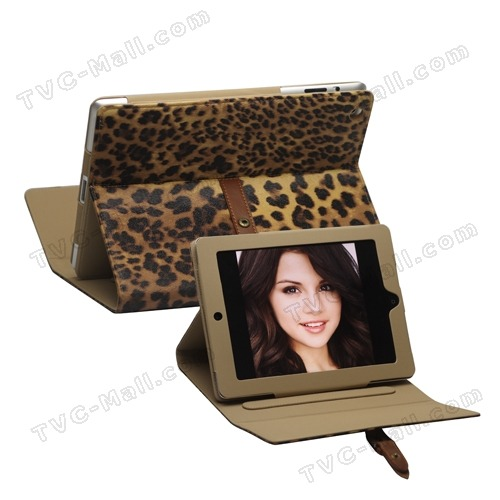Leopard Leather Case Stand with Belt and Brass Buckle for iPad 2 The New iPad 3  You gotta admit it's cool and SEXYYY…